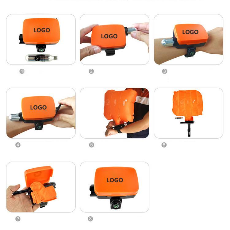 Fast Inflatable Lifesaving Wristband Float Anti-Drowning Emergency Self-Rescue Swimming Bracelet