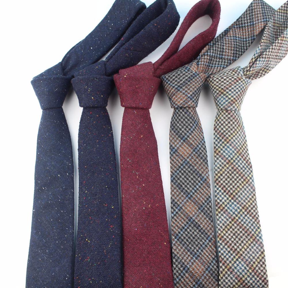 European Men's Wool Necktie kinny Dot,2 Pieces, Photo shown