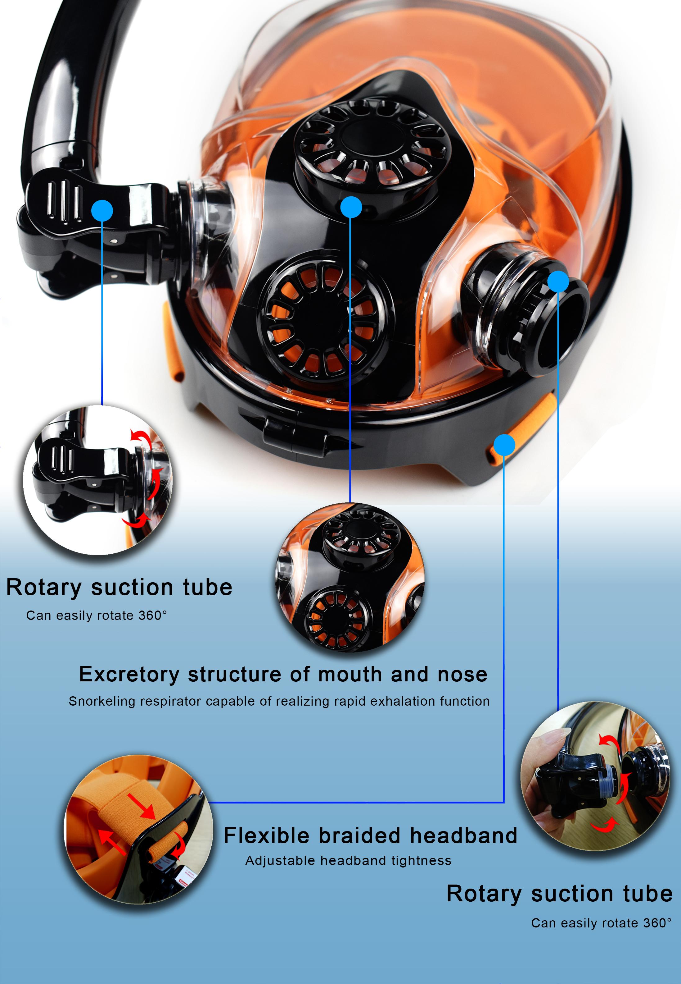S5000 Plus Scuba Diving Tank Equipment, Mini Scuba Dive Cylinder with 20-25 Minutes Capability