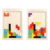 Colorful Wooden Tangram Puzzle Tetris Game Preschool Kid Intelligence Educational Child Wooden Puzzle Toy
