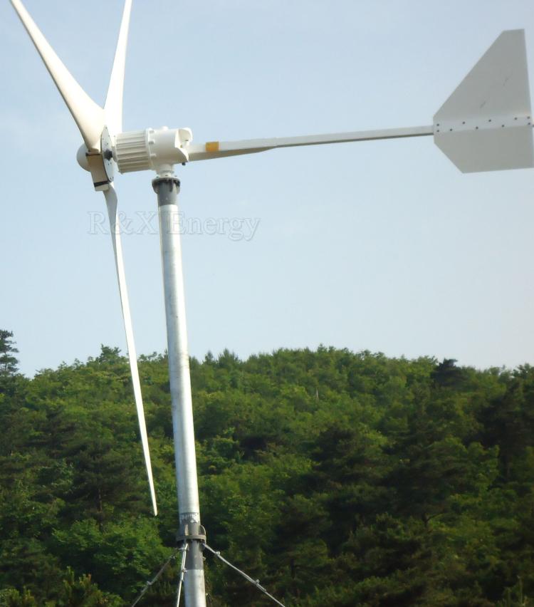 5Kw Kincir Angin Generator 3 Blades MAX Power 7000W 220V Generator Angin
