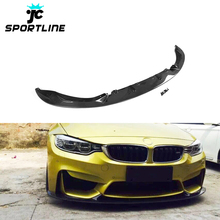 Vacuum Carbon Fiber F80 M3 Car Front Splitter for BMW F82 F83 M4 14-19