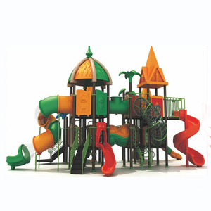 china made childrens indoor playground plastic slide and house sets
