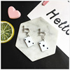 black heart ear clips