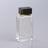 100ml square clear glass middle east perfume bottle for man