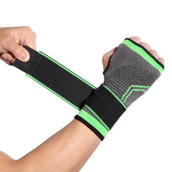 Fashion Outdoor Sports Bandage Knitted Wrist Bracers Wrist Protective Gear Adult weightlifting Fitness Palm Cover Wrist Support