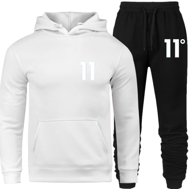 Hoodie set Tracksuit Men Thermal Sportswear Sets Hoodies and Pants Casual Sweatshirt Sport Suit
