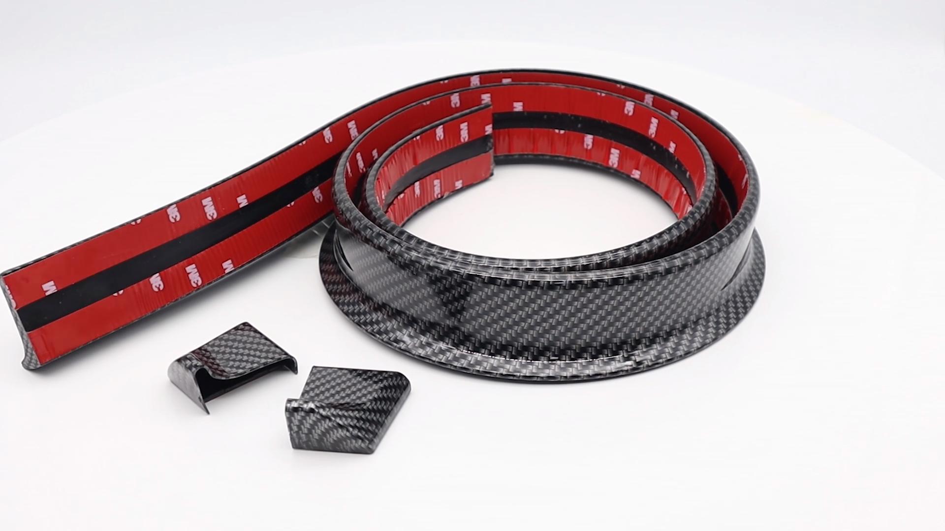 Universal Carbon Fiber Texture 3.2x150cm Racing Car Rear Automotive Spoiler DIY Trunk Rear Roof Lip Ducktail Wing Spoiler