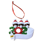 Decor Decoration Diy Handmade Personalized Survivor Family Christmas Ornament Quarantine 2020 For Christmas Tree Decoration