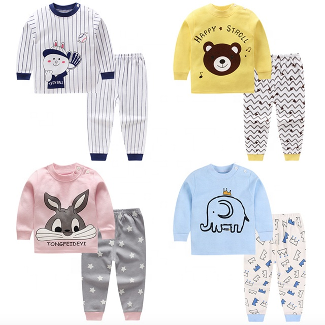 Baby Girls and Boys 2 pieces sets Pure Cotton Underwear Infant T-shirt and pants on sale