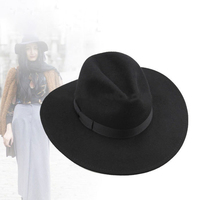 European Style Wide Brim Unisex High Quality Men 100% Australian Wool Felt Fedora Hat Women