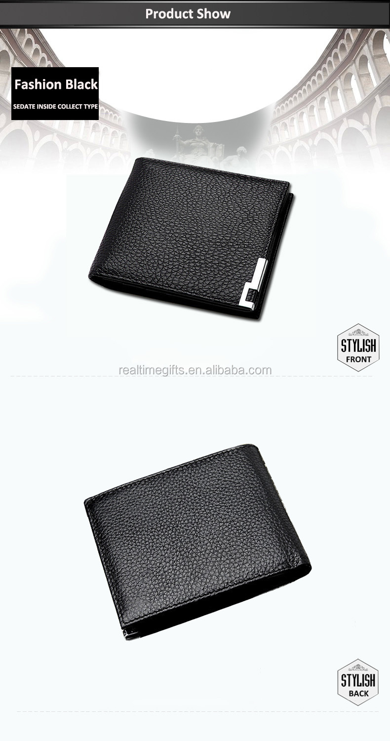 Wholesale Metal Corner Protection High Quality Multifunctional Credit Card Holder PU Leather Wallet