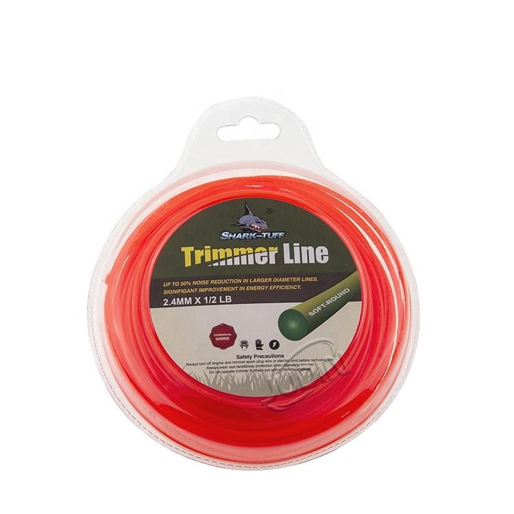 Cord Wire 2.4MM 1/2LB Orange Round Nylon  fishing line   Brush Cutter Accessories Grass Trimmer Line
