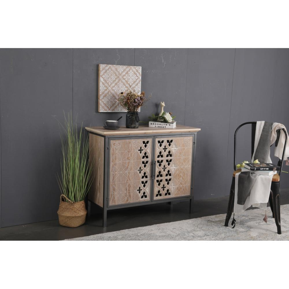 INNOVAHOME accessory antique dinning living room home furniture solid wood kitchen wooden storage cabinet