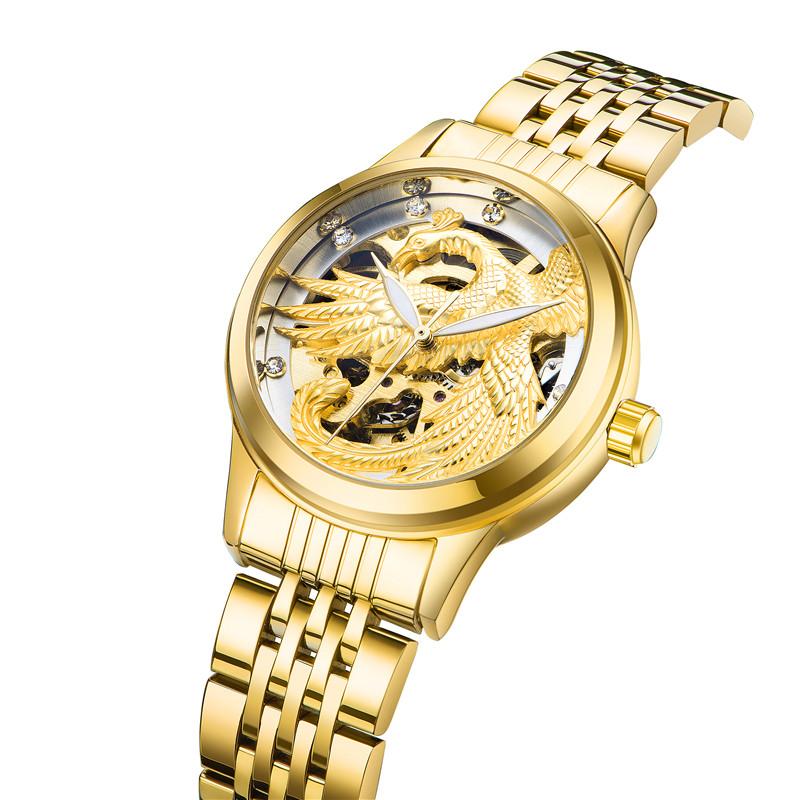 9006 อาลีบาบาช้อปปิ้งออนไลน์โลโก้ที่กำหนดเองหรูหรานาฬิกาผู้ชายนาฬิกาอัตโนมัติ