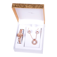 China Wholesale Pop Modern Women'S Alloy Watch Necklace Set Ladies Wedding Gift Set