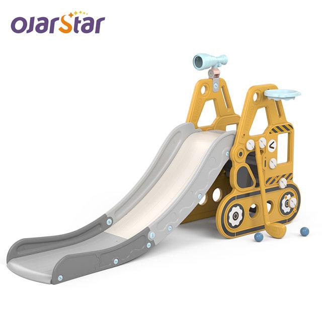 Worldstar fabriek goedkope prijs kleuterschool kids slide tank indoor baby glijbaan prijs voor verkoop