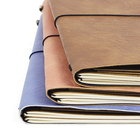 A5 diary note book PU covered two jotters inside leather planner