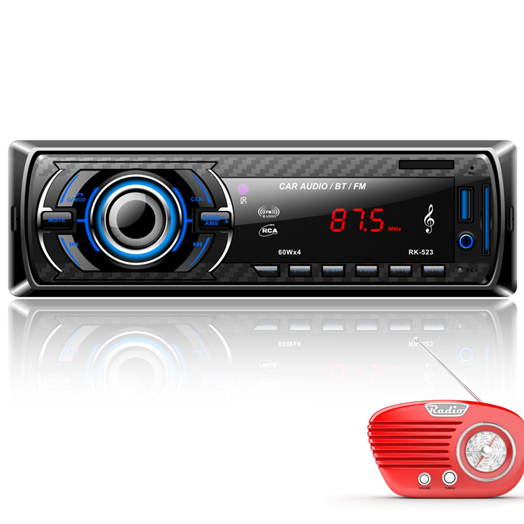 12V Bluetooth Universal Auto de Áudio Estéreo MP3 Player para FM/SD/AUX/USB/Interface para carro In-Dash Rádio Receptor de Entrada