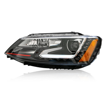 car headlight with led in side for Jetta mk6