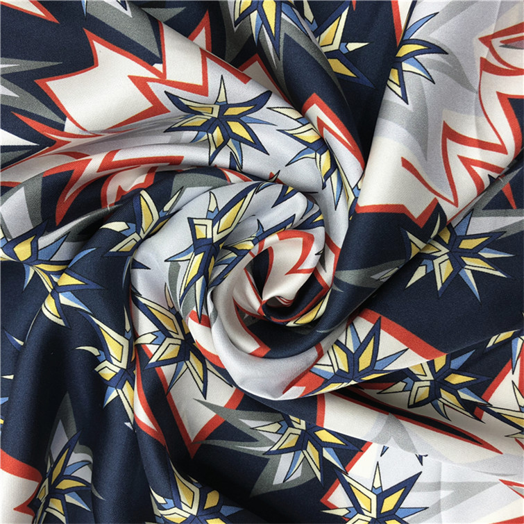 Digital Print 100% Silk Twill Baby Fabric with Your Own Design