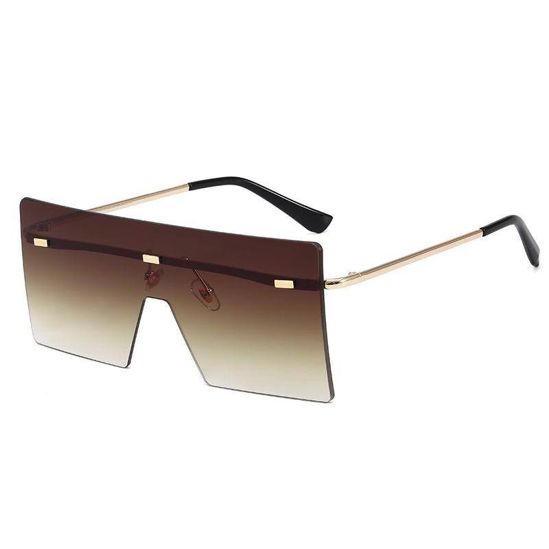 Superhot Eyewear 10239 Fashion 2020 Flat Top Oversized Square Rimless UV400 Women Ladies Shades Sunglasses