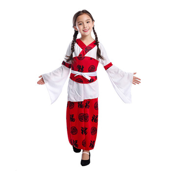 Fancy Chinese princess girls world customs Halloween party costume