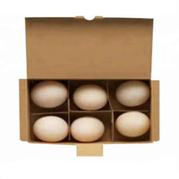 Wholesale kraft/corrugated cardboard 6 cavity egg cartons paper pulp