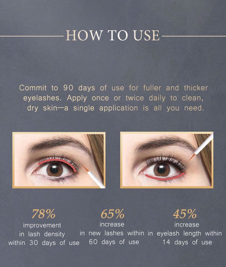 Gollee Vegan Herbal Eyelash And Eyebrow 100% Wholesale Enhancer Hyaluronic Acid Organic Private Label Eyelash Growth Serum