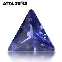 Tanzanite Blau <span class=keywords><strong>CZ</strong></span> 5*5mm Triangle Cut Zirkonia Lose Großhandel Edelsteine