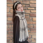 Warm Cashmere Winter Wool Fashion Lady Printing Long Woman Custom Man Plain Pashmina gray Plaid Scarf