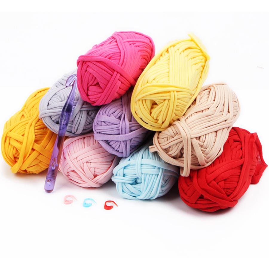 T shirt yarn hand dyed hand knitting crochet yarn for knitting bag