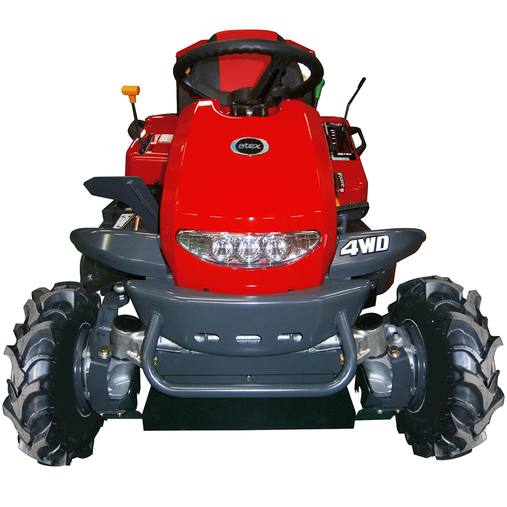 Japanese brush cutter comfortable ride on auto lawn tractor 4wd auto mower