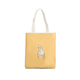 New style ginger yellow finger heart pattern girl cotton canvas tote shopping bag