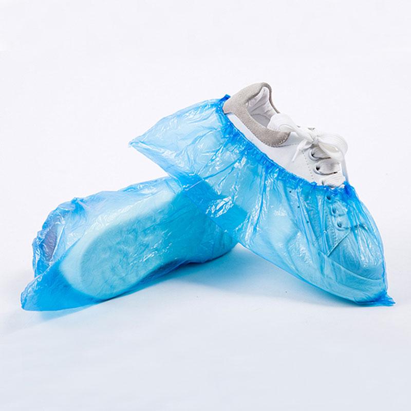 Atacado de segurança à prova de chuva azul descartável do pe do pvc pp cpe sapato tampa plástica protetora tampa do pé