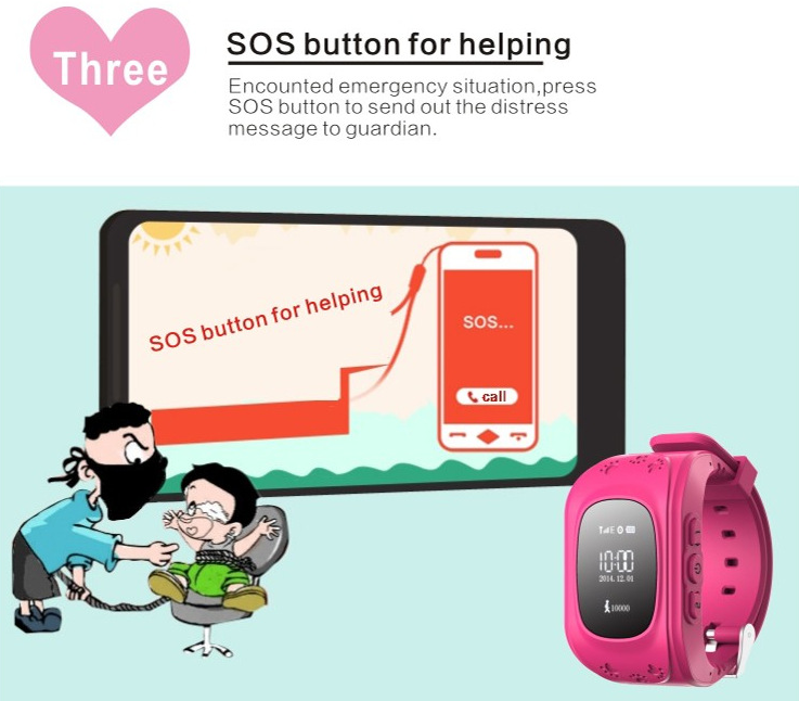 2018 Emergency Anti Lost GPS Tracker Q50 Smart Baby Children android kids adult smart watch with tracker
