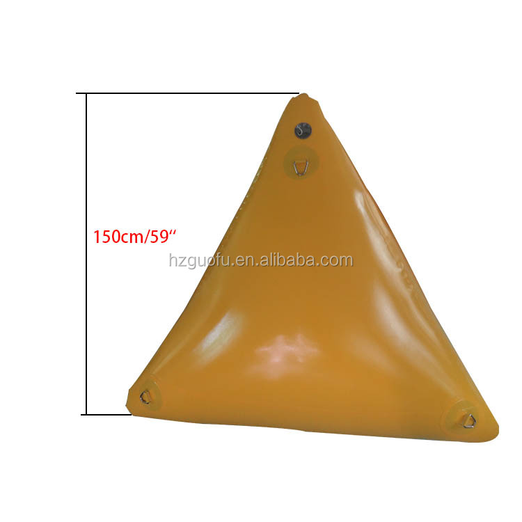 Heavy-duty Tarpaulin PVC Advertising Event Inflatable Water Floating Triangle Pyramid Marker Buoy for Sale