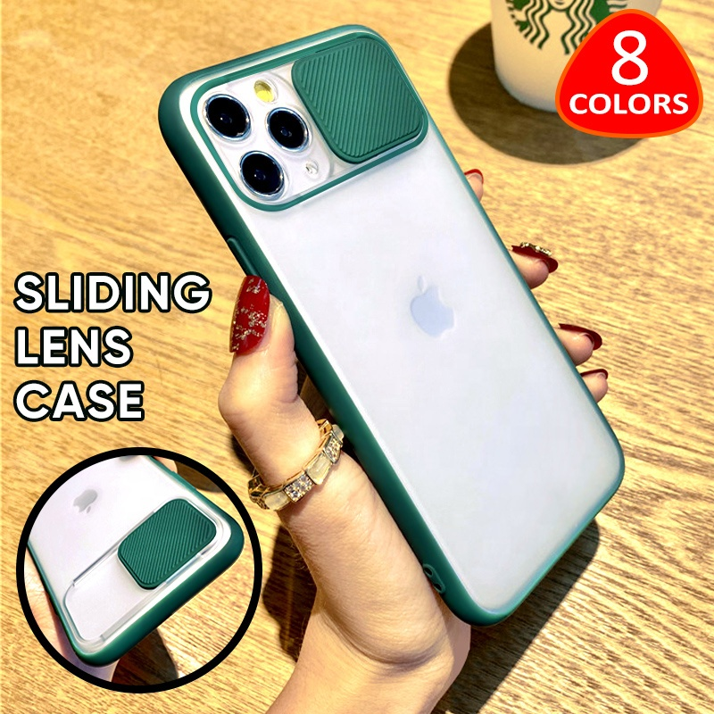 Slide Camera Lens Protector Matte Transparent Soft Phone Cases for iPhone 11 Pro Case XR XS <strong>MAX</strong> SE 7 8 PLUS