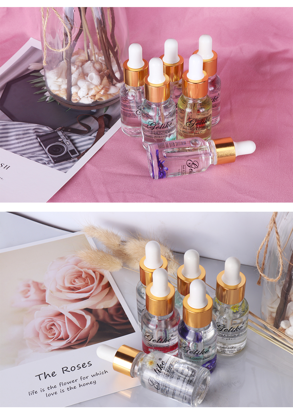 cuticle oil with flowers