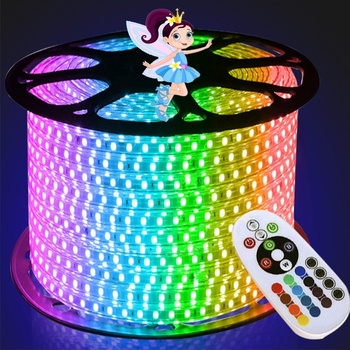 220V 110V 50hz dimmable flexible LED Strip 5050 100m IP67 Waterproof RGB wearable led strips lighting for decoration