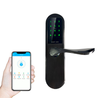 TT Lock Smartphone Control Fingerprint Recognized Electronic Digital Smart Bluetooth Keyless Door Locks For Home