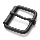 China Supplier 35mm Hot Sales Fashion Roller Buckle Customized Black Nickel Roller Buckle Classic Roller Clip Belt Buckles