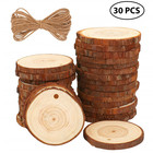 Crafts Natural Wood Slices 30pcs/set Semi-finished Wood Slices With Holes Suitable For Christmas Decoration DIY Crafts