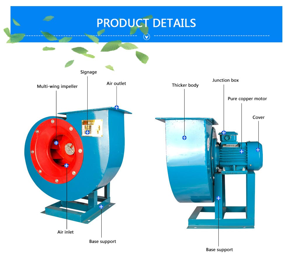 China industrial high air volume blower fan