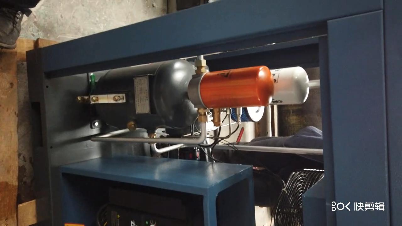 Kaishan कम्प्रेसर 15kw 20hp स्थायी चुंबक मोटर चर आवृत्ति ऊर्जा की बचत के साथ पेंच हवा कंप्रेसर मशीनों टैंक