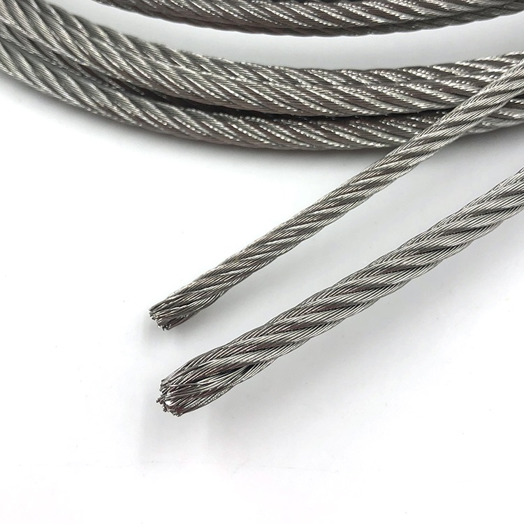 316 stainless steel wire rope 7x19 for marine use