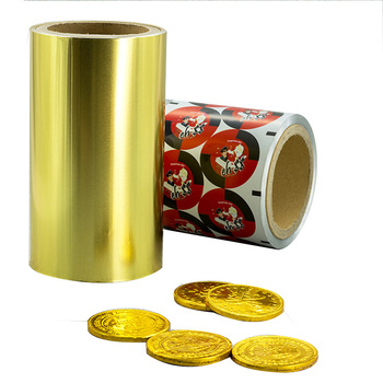 Gold Aluminum Foil for Wrapping Chocolate Coins