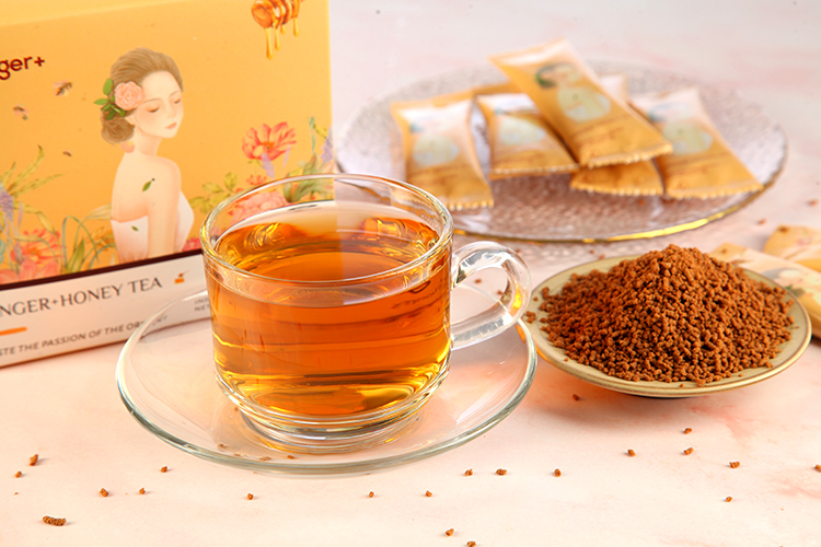 Natural Organic Powdered Ginger Root Honey Ginger Tea Relieve Menstrual Problems - 4uTea | 4uTea.com