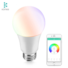 China Lampu LED <span class=keywords><strong>WIFI</strong></span> LED Bohlam Tipe EU E27 600lm 7 W Multicolor Smart Bulb