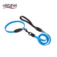 Pet Accessories LED Flash Lighting USB Rechargeable PVC Collar , Dog Products Anti lost Luminous Puppy collar with leash set